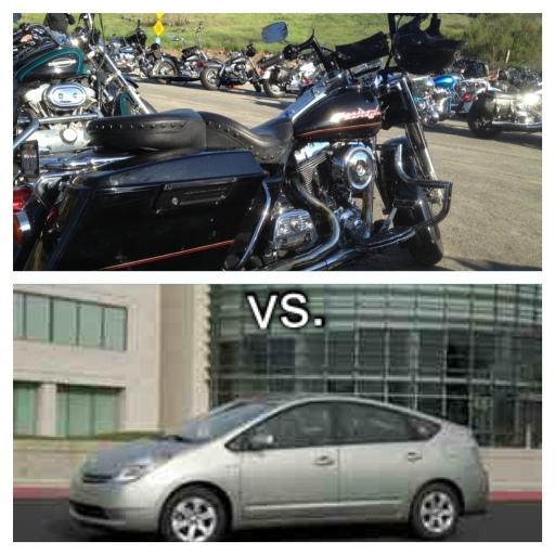 Harley vs. Prius