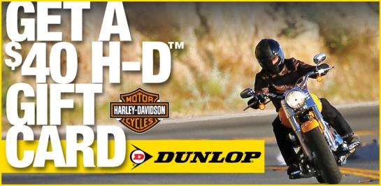 Dunlop Harley-Davidson Tire Coupon Ad