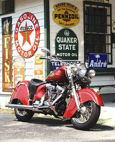 Indian Motorcycle in a Picture Perfect Setting