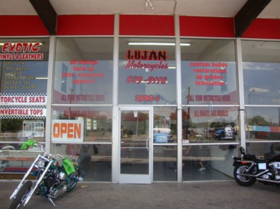 Lujan Motorcycles Front