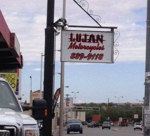 Lujan Shop Sign