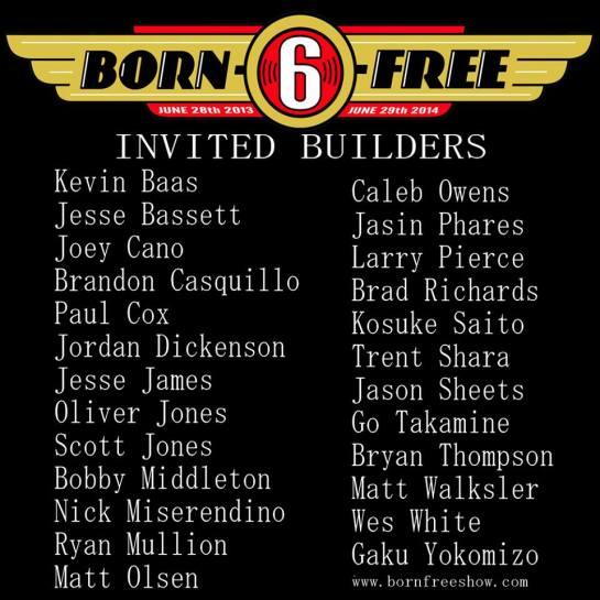 Born-Free 6 Builder List